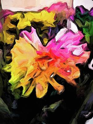 Digital Art - Rainbow Flowers 1 by Jackie VanO