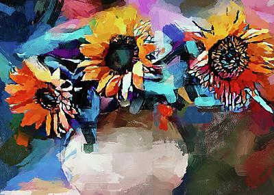 Digital Art - Rainbow Flowers by Yury Malkov