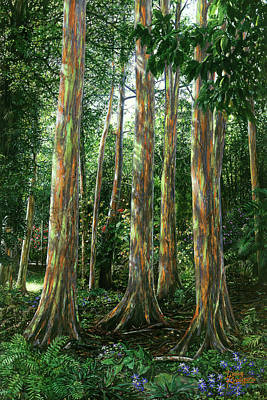 Painting - Rainbow Forest by Doug Kreuger