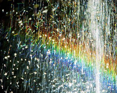 Rainbow Fountain Art Print by Francesa Miller