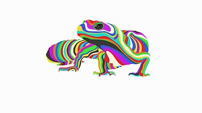 Painting - Rainbow Gecko by Jamie Price