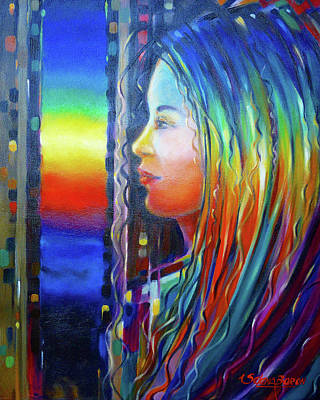 Painting - Rainbow Girl 241008 by Selena Boron