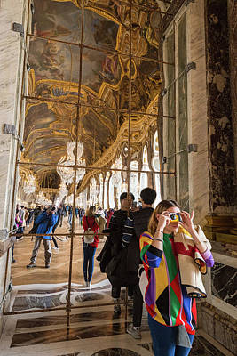 Photograph - Rainbow Girl In The Hall Of Mirrors by Alex Lapidus