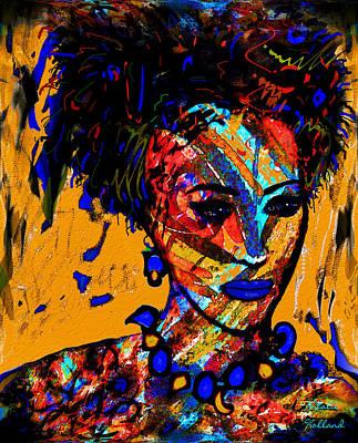 Mixed Media - Rainbow Girl by Natalie Holland