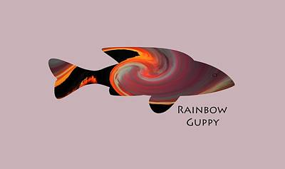 Photograph - Rainbow Guppy by Whispering Peaks Photography