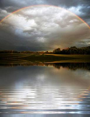 Wall Art - Photograph - Rainbow Halo by Serbennia Davis