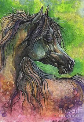 Painting - Rainbow Horse 2017 06 05 by Angel Ciesniarska