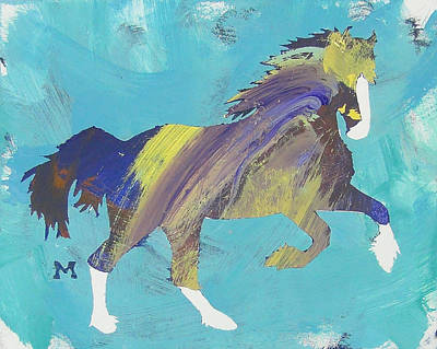 Painting - Rainbow Horse by Candace Shrope