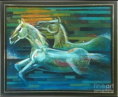 Rainbow Horses Original by Minal Patel