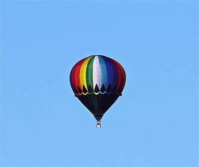 Photograph - Rainbow Hot Air Balloon by Denise Mazzocco