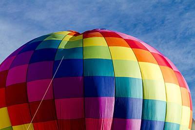 Rainbow Hot Air Balloon Art Print
