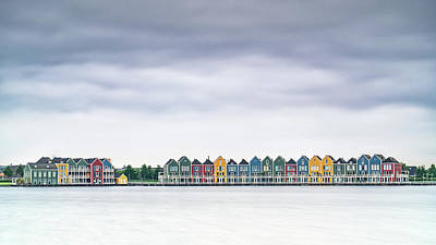 Photograph - Rainbow Houses by Framing Places