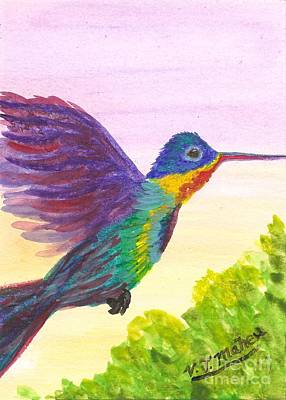 Painting - Rainbow Hummingbird by Vicki Maheu