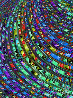Abstract Shapes Digital Art - Rainbow In Abstract 01 by John Edwards