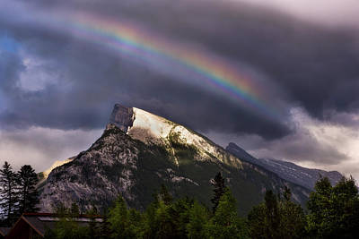 Photograph - Rainbow In Banff National Park Canada by Dave Dilli