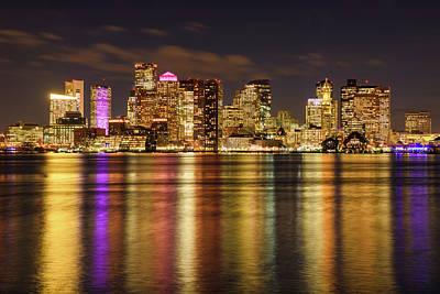 Photograph - Rainbow In Boston Harbor by Michael Blanchette
