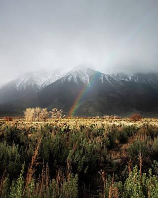 Rainbow In Eastern Sierra Nevadas Art Print