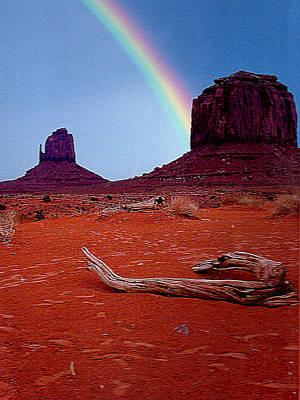 Photograph - Rainbow In Monument Valley Arizona by Merton Allen