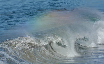 Photograph - Rainbow In My Wave 3 by Fraida Gutovich