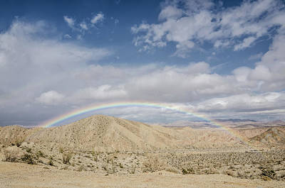 Photograph - Rainbow In The Desert by Margaret Pitcher