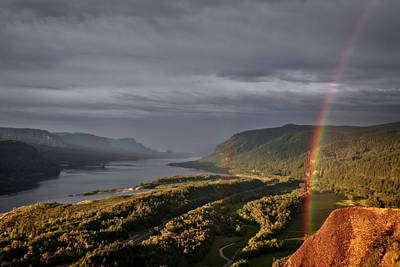 Photograph - Rainbow In The Gorge by Wes and Dotty Weber