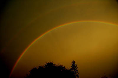 Photograph - Rainbow In The Night by David Weeks