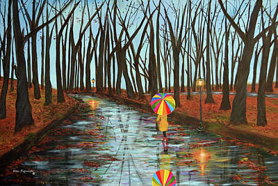 Tranquil Painting - Rainbow In The Park 2 by Ken Figurski