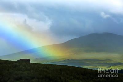 Rainstorm Photograph - Rainbow In The Scottish Highlands by Diane Diederich