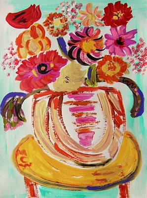 Mary Carol Art Drawing - Rainbow In The Vase by Mary Carol Williams