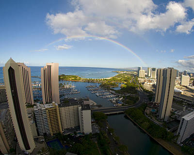 Photograph - Rainbow In Waikiki by Colleen Joy