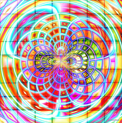 Digital Art - Rainbow Interlace by Shawna Rowe