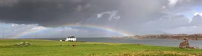 Rainbow, Island Of Iona, Scotland Art Print