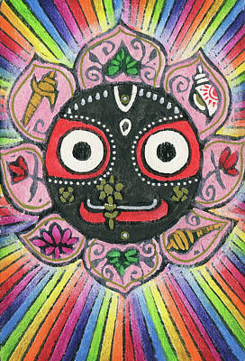 Mixed Media - Rainbow Jagannath by Jennifer Mazzucco