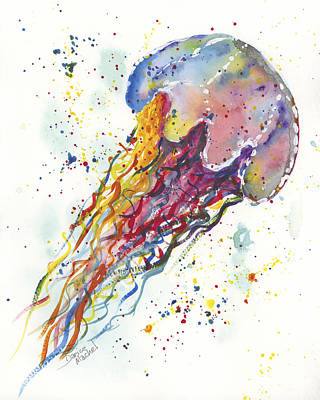 Painting - Rainbow Jellyfish by Darice Machel McGuire