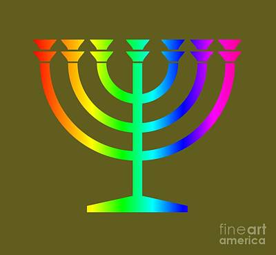 Rainbow Judaism Symbol Art Print by Frederick Holiday