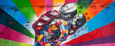 Graffiti Photograph - Rainbow Kiss Panorama by Az Jackson