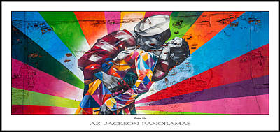 Grafitti Photograph - Rainbow Kiss Poster Print by Az Jackson