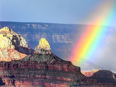 Photograph - Rainbow Kisses The Grand Canyon by Michael Oceanofwisdom Bidwell