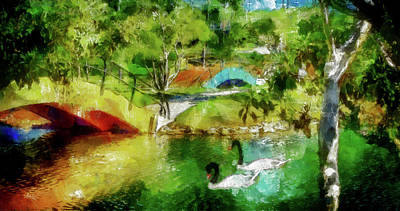 Mixed Media - Rainbow Lagoon by Joseph Hollingsworth
