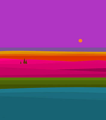 Digital Art - Rainbow Landscape by Val Arie