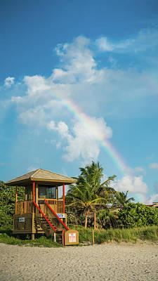 Photograph - Rainbow Lifeguard Station Delray Beach Florida by Lawrence S Richardson Jr