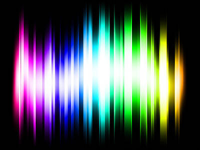 Shining Digital Art - Rainbow Light Rays by Michael Tompsett