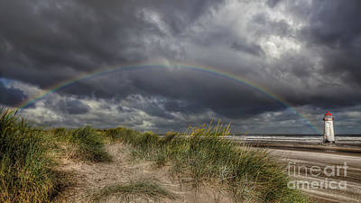 Talacre Photograph - Rainbow Lighthouse by Adrian Evans