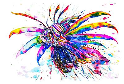 Painting - Rainbow Lionfish by Zaira Dzhaubaeva