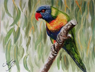 Painting - Rainbow Lorikeet by Anne Gardner