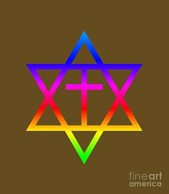 Rainbow Messianic Judaism Symbol Art Print by Frederick Holiday