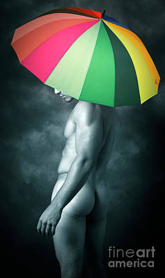 Nude Digital Art - Rainbow Mike  by Mark Ashkenazi