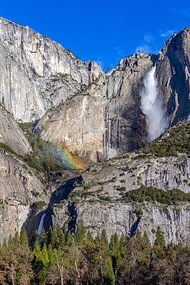 Photograph - Rainbow Mist At Yosemite Falls by Bill Gallagher