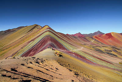 Photograph - Rainbow Mountain, Cusco, Peru by Venetia Featherstone-Witty
