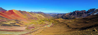 Photograph - Rainbow Mountain Panorama, Peru by Venetia Featherstone-Witty